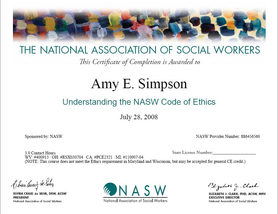 Peaceful image throughout nasw code of ethics printable